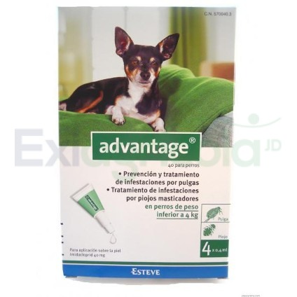 advantage 0 a 4 - ADVANTAGE PERROS 0.4 ML 0 A 4 KG