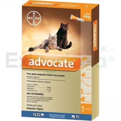 advocate gato 0a 4 - ADVOCATE GATOS 0.4 ML DE 0 A 4 KG