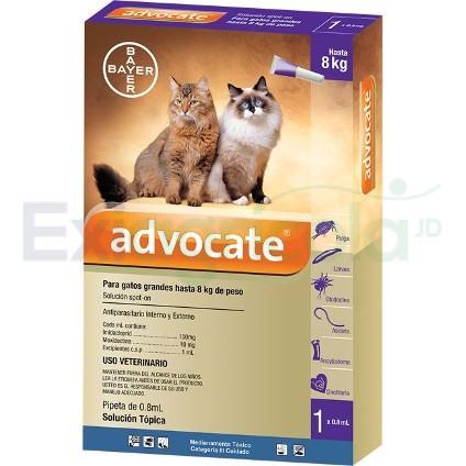advocate gato 4 a8 - ADVOCATE GATOS 0.8 ML DE 4 A 8 KG