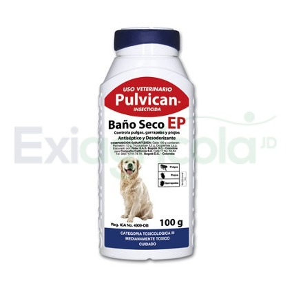 baño secoinsecticida pulvican - BAÑO SECO PULVICAN INSECTICIDA X 100 GR