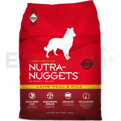 nutra nuggets lamb - NUTRA NUGGETS ADULTO LAMB & RICE (CORDERO Y ARROZ)