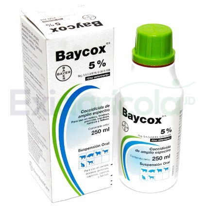 baycox - BAYCOX 5%  X 250 ML (COCCIDIA)