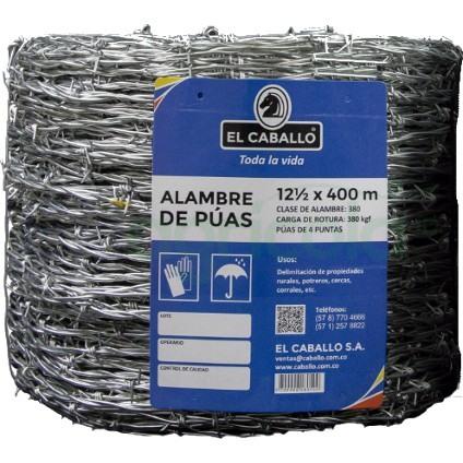 alambre de puas 12.5 - ALAMBRE DE PÚAS 12.5 X 400 MTS