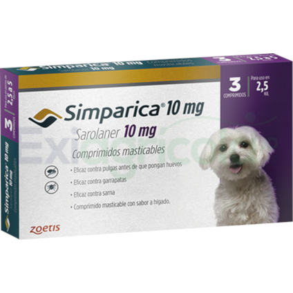 SIMPARICA 2.5 A 5 KG EXIAGRICOLA