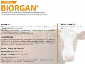 BIORGAN DESCR EXIAGRICOLA 300x226 - BIORGAN X 500 ML (VITAMINAS) + IVEGAN 3.5 % X 500 ML (IVERMECTINA)
