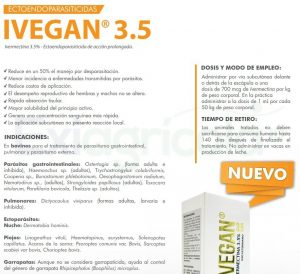 IVEGAN 3.5 DESCR EXIAGRICOLA 300x274 - BIORGAN X 500 ML (VITAMINAS) + IVEGAN 3.5 % X 500 ML (IVERMECTINA)