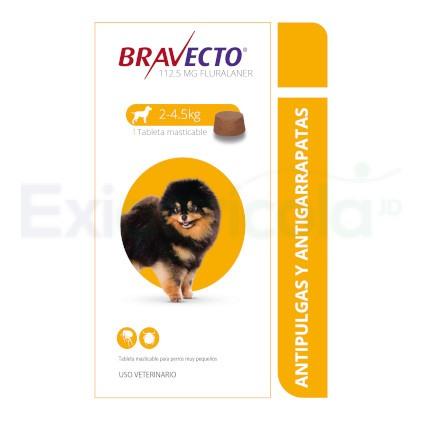 BRAVECTO 112.5 MG DE 2 - 4.5 KG